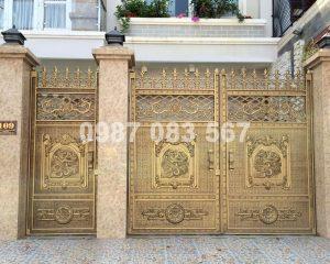 Cổng Nhôm Đúc M009