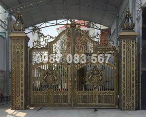 Cổng Nhôm Đúc M012