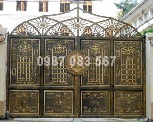 Cổng Nhôm Đúc M015