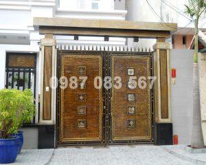 Cổng Nhôm Đúc M017
