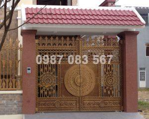 Cổng Nhôm Đúc M038