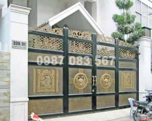 Cổng Nhôm Đúc M057