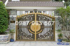 Thiết kế và thi công cổng nhôm đúc tại Thái Bình