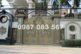 Thiết kế và thi công cổng nhôm đúc tại Thanh Hóa